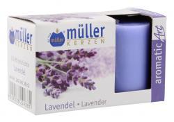 M�ller-Kerzen Duft-Votivlichte aromaticArt Lavendel  (2 St.) - 4009078249881