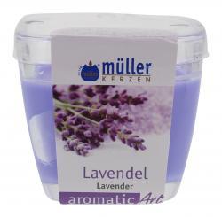 M�ller-Kerzen Duft-Kerzenglas aromaticArt Lavendel  (1 St.) - 4009078250313