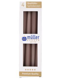 M�ller-Kerzen Spitzkerze kaschmir  (4 St.) - 4009078503853