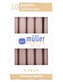 Müller-Kerzen Tafelkerze kaschmir  (10 St.) - 4009078503976