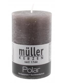 M�ller-Kerzen Polar Stumpenkerze asphalt  (1 St.) - 4009078118880