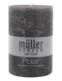 Müller-Kerzen Polar Stumpenkerze asphalt  (1 St.) - 4009078118989