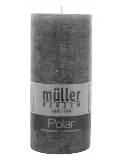M�ller-Kerzen Polar Stumpenkerze asphalt  (1 St.) - 4009078119023