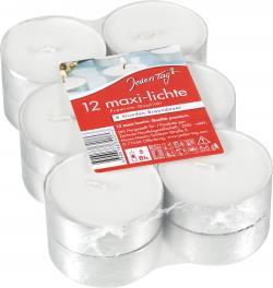 Jeden Tag Maxi-Lichte wei�  (12 St.) - 4009078499194