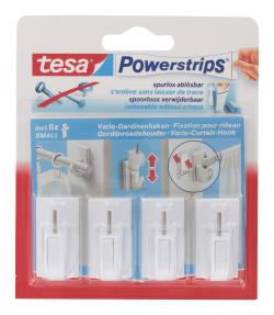 Tesa Powerstrips Vario-Gardinenhaken weiß  (4 St.) - 4042448105721