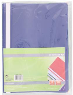 Paperfoxx Schnellhefter DIN A4 PVC 5 Farben  (10 St.) - 4005437802339