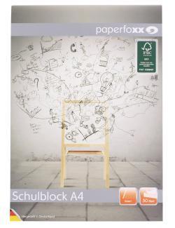 Paperfoxx Schulblock DIN A4 50 Blatt liniert  (1 St.) - 4005437802711