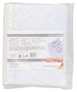 Paperfoxx Prospekthüllen/Klarsichthüllen DIN A4 100 Stück  - 4005437803336