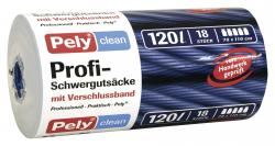 Pely Clean Profi-Schwerguts�cke mit Verschlussband 120 Liter  (18 St.) - 4007519085548