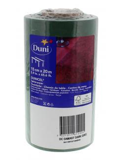 Duni Tischläufer Dunicel Damast 15cm x 20m dunkelgrün  (1 St.) - 7321011614905
