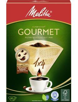 Melitta Gourmet Filtert�ten 1x4  - 4006508206834