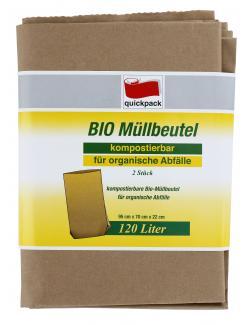 Quickpack Bio M�llbeutel 120 Liter  (2 St.) - 4008284078537
