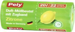 Pely Clean Zugbandbeutel mit Duft Zitrone 20 Liter  (22 St.) - 4007519086224