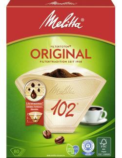 Melitta Original Filtertüten Naturbraun 102  - 4006508206926