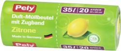 Pely Duft-M�llbeutel mit Zugband Zitrone 35 Liter  (20 St.) - 4007519086248
