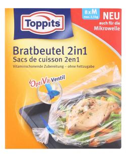 Toppits Bratbeutel 2in1 Gr��e M  (8 St.) - 4006508101061