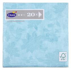 Duni Servietten 33x33cm Venezia Pastel Turquoise  (1 St.) - 7321011672202
