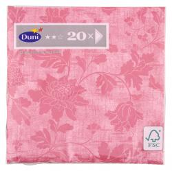 Duni Servietten 33x33cm Venezia Rose  (1 St.) - 7321011672226
