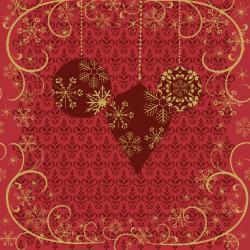 Duni Ornate X-mas Red Tissue-Servietten 33x33cm  (20 St.) - 7321011718207