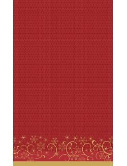 Duni Ornate X-mas Red Dunicel-Tischdecke 138x220cm  (1 St.) - 7321011718238