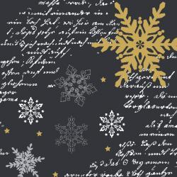 Duni Snowflakes Black Tissue-Servietten 33x33cm  (1 St.) - 7321011718399