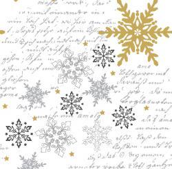Duni Snowflakes White Dunilin-Servietten 40x40cm  (1 St.) - 7321011718405