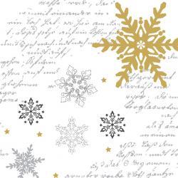Duni Snowflakes White Tissue-Servietten 33x33cm  (1 St.) - 7321011718382