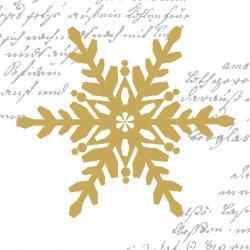 Duni Snowflakes White Tissue-Servietten 24x24cm  (1 St.) - 7321011718375