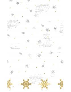 Duni Snowflakes White Dunicel-Tischdecke 138x220cm 2061009