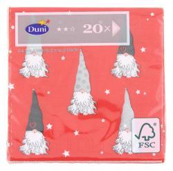 Duni Tomten Tissue-Servietten 24x24cm  (1 St) - 7321011718597