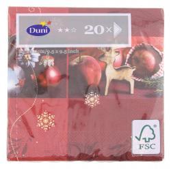 Duni Christmas Jewelry Tissue-Servietten 24x24cm  (1 St) - 7321011719105