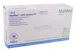 MaiMed Nitril Stretch PF Untersuchungshandschuhe M  (100 St.) - 4015544270594