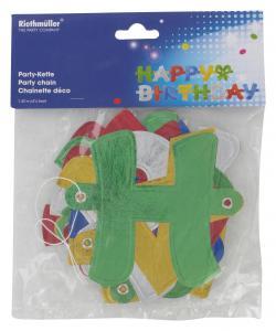 Riethmüller Partykette Happy Birthday  (1 St.) - 4009775172215