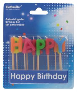 Riethm�ller Kerzen-Set Happy Birthday  - 4009775064749
