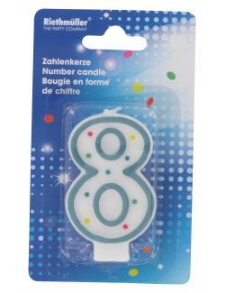 Riethmüller Zahlenkerze 8  (1 St.) - 4009775121848