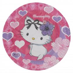 Riethm�ller Pappteller 23cm Charmmykitty Hearts  (1 St.) - 4009775413240