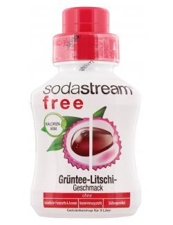 Soda Stream Free Getr�nkesirup Gr�ntee-Litschi  (375 ml) - 8718692611146