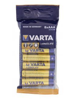 Varta Longlife Alkaline AAA  (8 St.) - 4008496744688