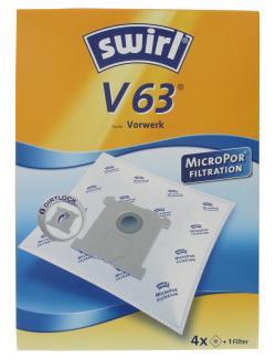 Swirl Staubsaugerbeutel V63 MicroPor  (4 St.) - 4006508202218