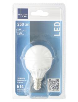 Müller Licht Leuchtmittel LED 3W E14 warmweiß  (1 St.) - 4018412025739