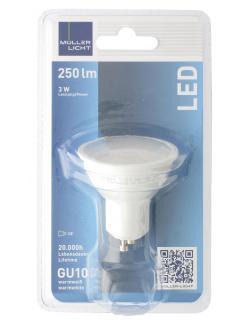 Müller Licht Leuchtmittel LED 3W GU10 warmweiß  (1 St.) - 4018412026231
