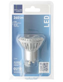 M�ller Licht Leuchtmittel LED GU10 5W warmwei�  (1 St.) - 4018412026118