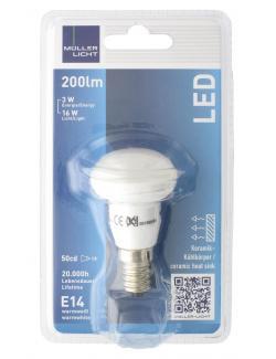 Müller Licht Leuchtmittel LED 3W E14 warmweiß  (1 St.) - 4018412011626