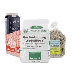 Set: Mühle Erks Bioland Backmischung Dinkelbrot  - 2145300002869