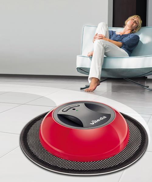 vileda virobi wischroboter akku staubwisch roboter einfach zu bedienen. Black Bedroom Furniture Sets. Home Design Ideas