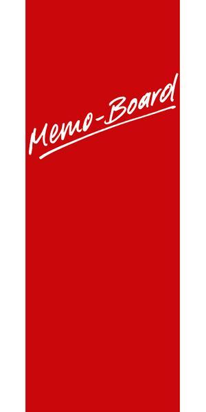 Eurographics Memo Board MB-RED3080 Magnet- und Schreibtafel aus Glas in rot  inklusiv Stift + Magnete   Red, 30x80cm 4017616724493