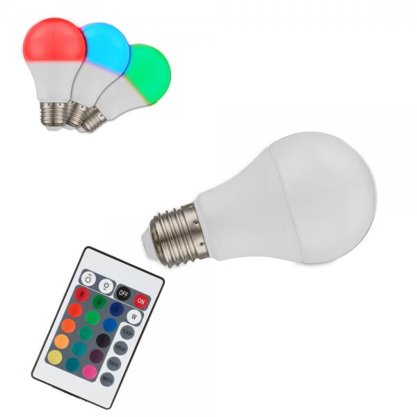 globo led e27 rgb leuchtmittel mit fernbedienung dimmbar 2er set ebay. Black Bedroom Furniture Sets. Home Design Ideas