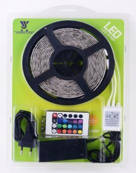 led rgb stripe lichtband 5m 30 led typ 5050 mehrfarbig mit fernbedienung ebay. Black Bedroom Furniture Sets. Home Design Ideas
