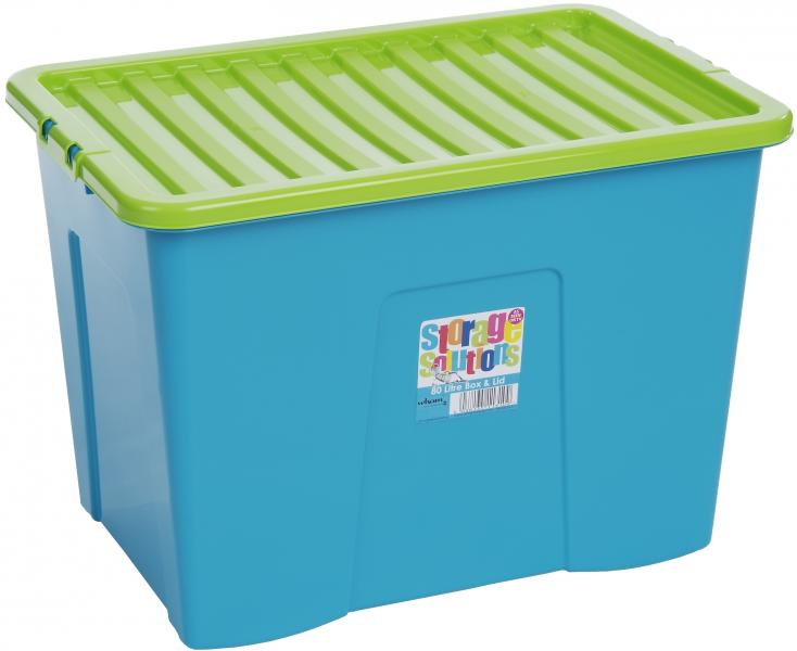 wham aufbewahrungsbox mit deckel 80 l t rkis gr n box ebay. Black Bedroom Furniture Sets. Home Design Ideas