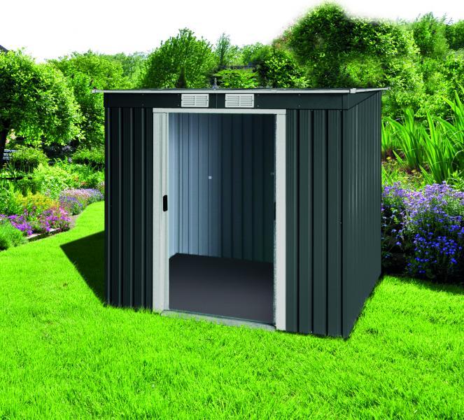 tepro pd 6x4 metallger tehaus mit pultdach ger tehaus. Black Bedroom Furniture Sets. Home Design Ideas
